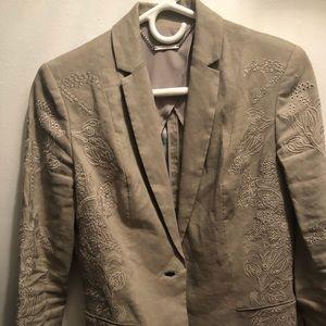 Khaki, Elie Tahari linen jacket, XS